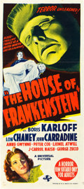 "Movie Posters:Horror, House of Frankenstein (Universal, 1944). Australian Daybill (13.25""X 30"").. ..."