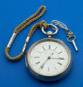 Timepieces:Pocket (pre 1900) , Swiss Sterling Center Seconds Fusee. ...