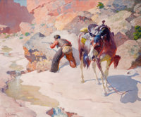 THE PROPERTY OF PHILIP JONSSON  WILLIAM ROBINSON LEIGH (American, 1866-1955) Renegade at Bay, 194