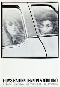 "Films by John Lennon and Yoko Ono (John Lennon and Yoko Ono, 1972). One Sheet (27"" X 41"")"
