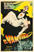 "Movie Posters:Horror, El Vampiro (Pel Mex, 1957). Argentinean One Sheet (29"" X 43.5"")....."