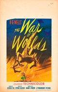 """Movie Posters:Science Fiction, The War of the Worlds (Paramount, 1953). Window Card (14"""" X 22"""").. ..."""