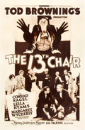 "Movie Posters:Mystery, The 13th Chair (MGM, 1929). Rotogravure One Sheet (27"" X 41"").. ..."