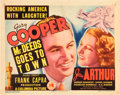 """Movie Posters:Comedy, Mr. Deeds Goes to Town (Columbia, 1936). Title Lobby Card (11"""" X14"""").. ..."""