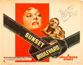 "Movie Posters:Film Noir, Sunset Boulevard (Paramount, 1950). Autographed Half Sheet (22"" X28"") Style B.. ..."