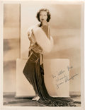 "Movie Posters:Miscellaneous, Joan Crawford by George Hurrell (MGM, early 1930s). AutographedPortrait Photo (10"" X 13"").. ..."