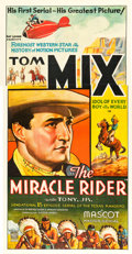 "Movie Posters:Serial, The Miracle Rider (Mascot, 1935). Three Sheet (41"" X 81"").. ..."