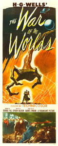 "Movie Posters:Science Fiction, The War of the Worlds (Paramount, 1953). Insert (14"" X 36"").. ..."