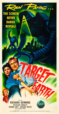 "Movie Posters:Science Fiction, Target Earth (Allied Artists, 1954). Three Sheet (41"" X 81"").. ..."