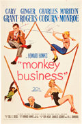 "Movie Posters:Comedy, Monkey Business (20th Century Fox, 1952). Autographed One Sheet(27"" X 41"").. ..."