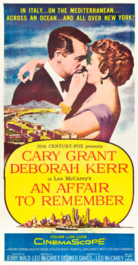 "An Affair to Remember (20th Century Fox, 1957). Three Sheet (41"" X 81"")"