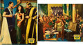 "Movie Posters:Historical Drama, Cleopatra (Paramount, 1934). Jumbo Lobby Cards (2) (14"" X 17"")..... (Total: 2 Items)"