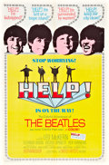 "Movie Posters:Rock and Roll, Help! (United Artists, 1965). One Sheet (27"" X 41""), Movie Ticket, and Promotional Button.. ..."