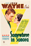 """Movie Posters:Western, Somewhere in Sonora (Warner Brothers, 1933). One Sheet (27"""" X 41"""").. ..."""