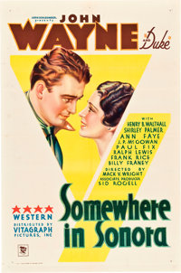 "Somewhere in Sonora (Warner Brothers, 1933). One Sheet (27"" X 41"")"