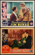 """Movie Posters:Drama, The Defense Rests and Other Lot (Columbia, 1934). Lobby Cards (2)(11"""" X 14""""). Drama.. ... (Total: 2 Items)"""