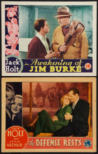 "The Defense Rests and Other Lot (Columbia, 1934). Lobby Cards (2) (11"" X 14""). Drama. ... (Total: 2 Items)"