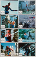"""Movie Posters:Action, Spider-Man Strikes Back (Columbia, 1978). Lobby Card Set of 8 (11""""X 14""""). Action.. ... (Total: 8 Items)"""