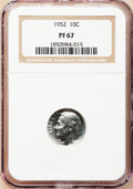 Proof Roosevelt Dimes: , 1952 10C PR67 NGC. NGC Census: (268/133). PCGS Population (404/30).Mintage: 81,980. Numismedia Wsl. Price for problem free...
