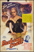 "Movie Posters:Western, Barbary Coast (Film Classics, R-1944). One Sheet (27"" X 41""). Western.. ..."