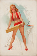 Pin-up and Glamour Art, TED WITHERS (American, 1896-1964). Quick Delivery. Oil oncanvas. 26 x 19 in.. Not signed. ...