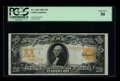 Large Size:Gold Certificates, Fr. 1183 $20 1906 Gold Certificate PCGS About New 50. Bright colorsand crisp surfaces dominate this early Gold Note....