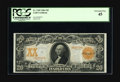 Large Size:Gold Certificates, Fr. 1185 $20 1906 Gold Certificate PCGS Extremely Fine 45. A veryhandsome note with broad margins, and the color and eye ap...