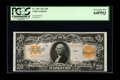 Large Size:Gold Certificates, Fr. 1187 $20 1922 Gold Certificate PCGS Very Choice New 64PPQ. Thesecond of the group with slightly the weakest centering o...