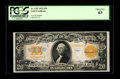 Large Size:Gold Certificates, Fr. 1187 $20 1922 Gold Certificate PCGS Choice New 63. Abeautifully colored example of the final Gold Certificate $20type....