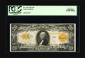 Large Size:Gold Certificates, Fr. 1187 $20 1922 Gold Certificate PCGS About New 53PPQ. Strictpaper originality is easy to spot on this brightly colored l...