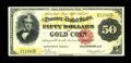 Large Size:Gold Certificates, Fr. 1195 $50 1882 Gold Certificate Very Fine-Extremely Fine. Thisis the lowest recorded serial number in the census and lac...