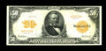 Large Size:Gold Certificates, Fr. 1198 $50 1913 Gold Certificate Very Fine+. This previouslyunreported note brings the census to just 46 recorded specime...