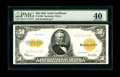 Large Size:Gold Certificates, Fr. 1200 $50 1922 Gold Certificate PMG Extremely Fine 40. This is abeautifully bright note, with good margins and super col...
