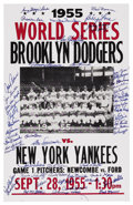 Autographs:Others, 1950s Brooklyn Dodgers Team Signed Poster. Reproduction of theposters used to announce the familiar Fall Classic matchup t...