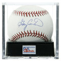 Autographs:Baseballs, Gary Carter Single Signed Baseball, PSA Mint+ 9.5. The fan favoriteHall of Fame backstop has applied a perfect signature he...