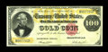 Large Size:Gold Certificates, Fr. 1214 $100 1882 Gold Certificate Very Fine. The color of the gold overprint and the red seal are still sufficiently bold....