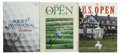 Golf Collectibles:Autographs, Golf Stars Signed U.S. Open Magazines Lot of 3. Three modern golfstars have deposited their signatures to c copy of the U....