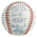 Autographs:Baseballs, 1994 Detroit Tigers Team Signed Baseball. Sparky Anderson's boysare represented here with this collection of 25 signatures...