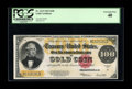 """Large Size:Gold Certificates, Fr. 1215 $100 1922 Gold Certificate PCGS Extremely Fine 40. A mosthandsome example of a """"C-note."""" It is wholly without the ..."""