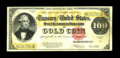Large Size:Gold Certificates, Fr. 1215 $100 1922 Gold Certificate Very Fine. An evenly circulatedand problem free piece with exceptionally bright colors,...