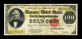 Large Size:Gold Certificates, Fr. 1215 $100 1922 Gold Certificate Very Fine. Well margined andstill very colorful, this Gold C-note exhibits a couple of ...