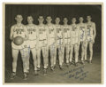 Autographs:Photos, 1948-49 Minneapolis Lakers Team Signed Photograph. The 1948-49Minneapolis Lakers were the strongest team in the BAA (Baske...