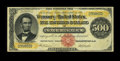 Large Size:Gold Certificates, Fr. 1216a $500 1882 Gold Certificate Very Fine. Nice edges andcolor along with full margins are observed on this note that ...
