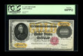 Large Size:Gold Certificates, Fr. 1225 $10000 1900 Gold Certificate PCGS Gem New 66PPQ. We canfind no auction records for any Fr. 1225 above the 65 level...