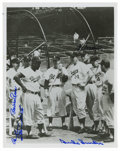 Autographs:Photos, 1950s Brooklyn Dodgers Multi-Signed Photograph. Brooklyn's Boys of Summer held the interest of the borough with the likes o...