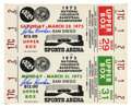 Basketball Collectibles:Others, John Wooden Signed Tickets with Signed Motivational Card. Legend ofcollegiate basketball coaching John Wooden has here pr...