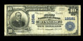 Winslow, AZ - $10 1902 Plain Back Fr. 635 The First NB Ch. # 12581 There are only thirteen large examples from this one...