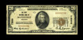 National Bank Notes:Arkansas, Batesville, AR - $20 1929 Ty. 1 The First NB Ch. # 7556. Common enough in large size, but not so in small, with this one...