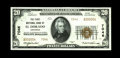National Bank Notes:Arkansas, El Dorado, AR - $20 1929 Ty. 2 The First NB Ch. # 7046. A crackling fresh example bearing low serial number A000004. C...