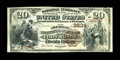 National Bank Notes:Arkansas, Fort Smith, AR - $20 1882 Brown Back Fr. 496 The American NB Ch. # 3634. Early notes are just plain scarce from any Arka...
